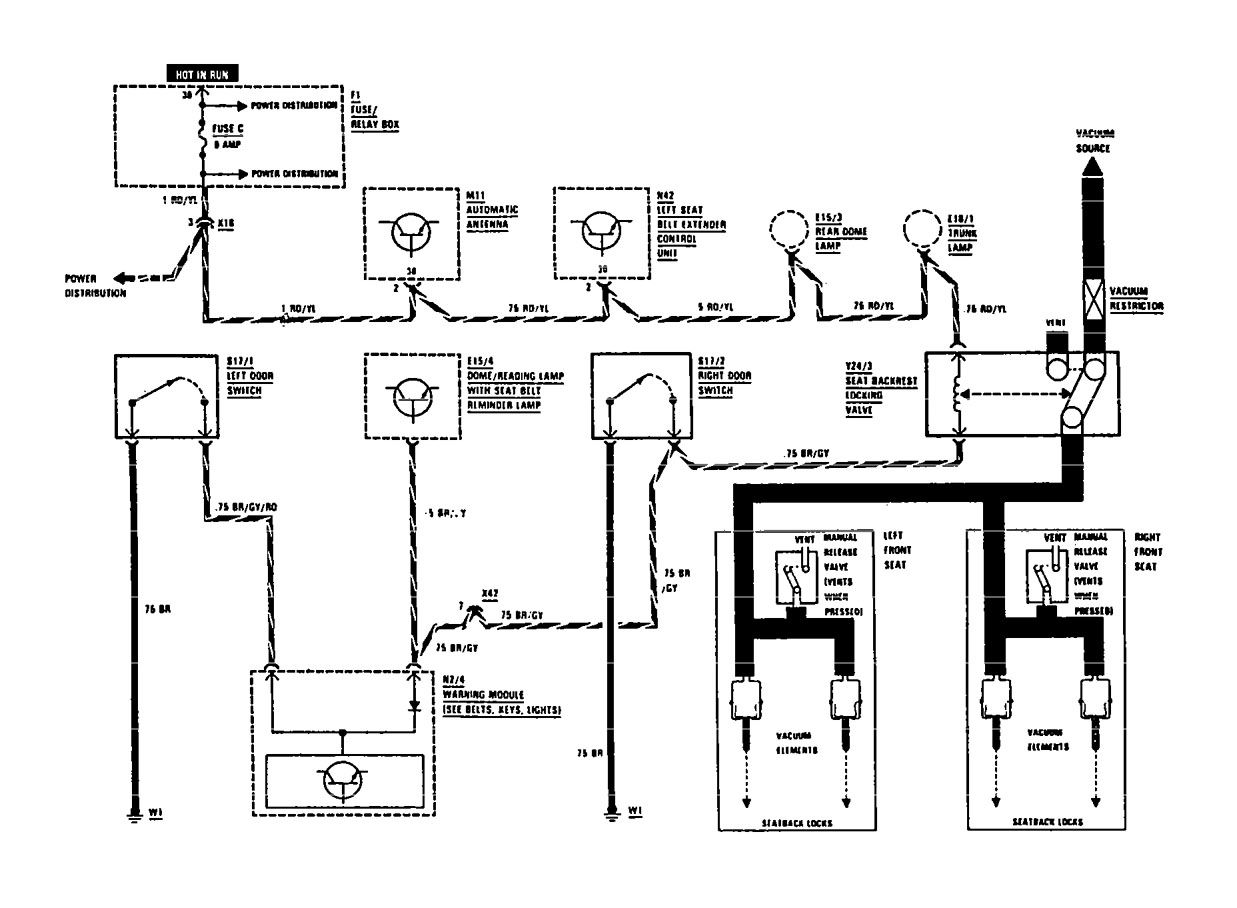 mercedes-benz 300ce  1991  - wiring diagrams