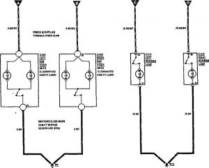 Mercedes-Benz 300CE - wiring diagram - reading lamp
