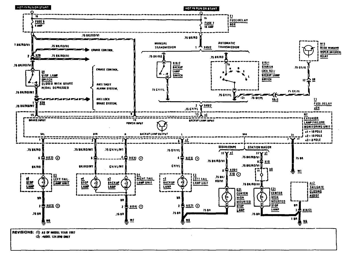 Mercedes Benz Stereo Wiring Diagram Library Schematics 300e 1990 1991 Diagrams Reverse Lamps Carknowledge W124 1992