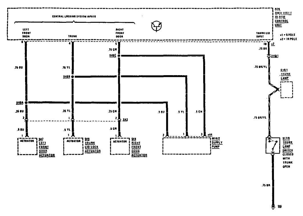 Mercedes Benz 300e 1990 Wiring Diagrams Security Anti Theft Fiat Punto Diagram Central Locking