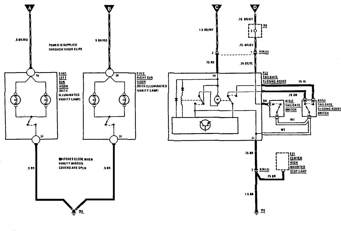Mercedes Benz 300ce 1991 Wiring Diagrams Truck Closure Diagram As Well