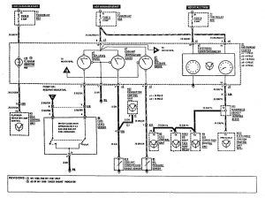 Mercedes-Benz 300CE - wiring diagram - warning indicators (part 1)