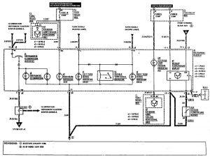 mercedes-benz 300ce - wiring diagram - warning indicators (part 2)