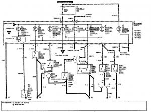 Mercedes-Benz 300CE - wiring diagram - warning indicators (part 3)