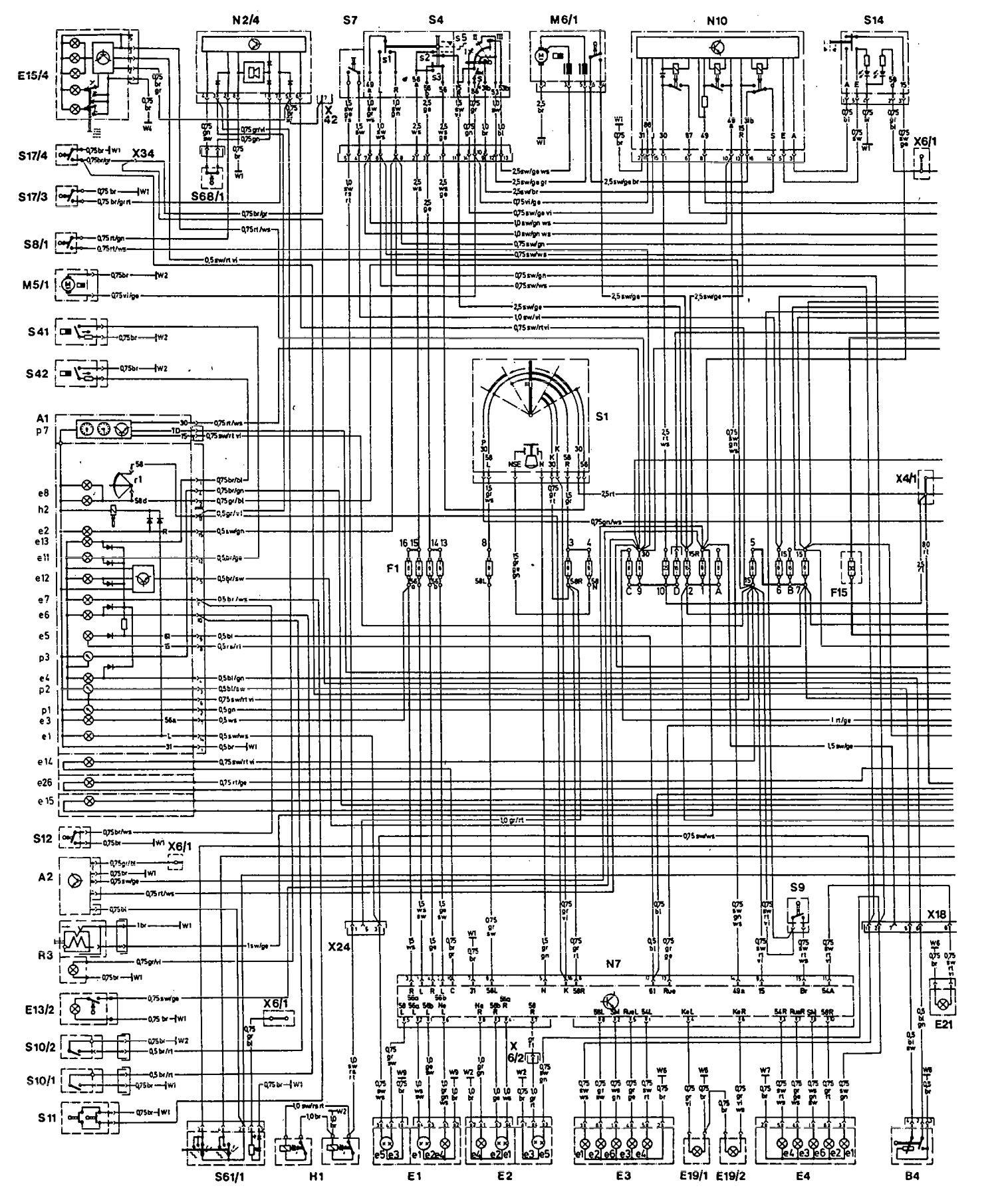 1993 Mercedes 300e Engine Diagram Electrical Wiring Diagrams Radio Benz 500e 1992 Fuel Controls 93