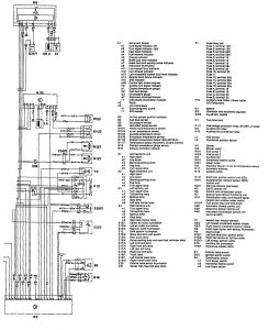 Mercedes-Benz 300E - wiring diagram - fuel controls (part 3)