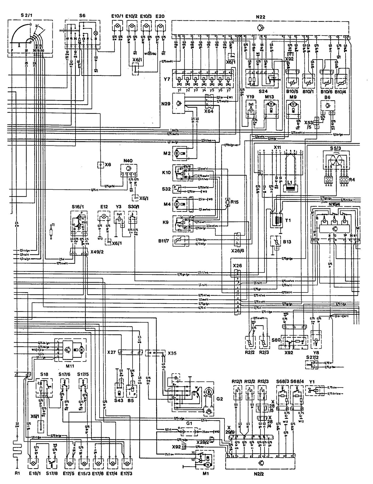 ... Mercedes-Benz 300E - wiring diagram - ignition (part 2)