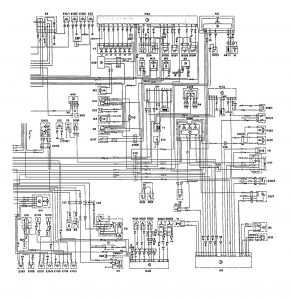 Mercedes-Benz 300E - wiring diagram - instrumentation (part 2)
