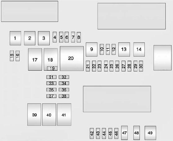 Cadillac Ats  2012  U2013 2013   U2013 Fuse Box Diagram