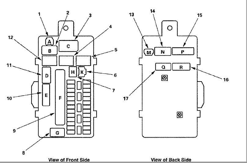 Honda Accord  2008 - Fuse Box Diagram