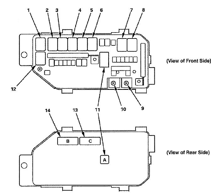 honda accord  2008 - fuse box diagram