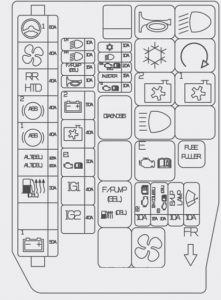 hyundai accent - wiring diagram - fuse box diagram - engine compartment