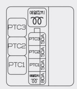 Hyundai Accent - wiring diagram - fuse box diagram - engine compartment (diesel only)