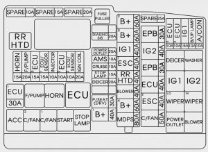 Hyundai Azera - wiring diagram - fuse box diagram - engine compartment