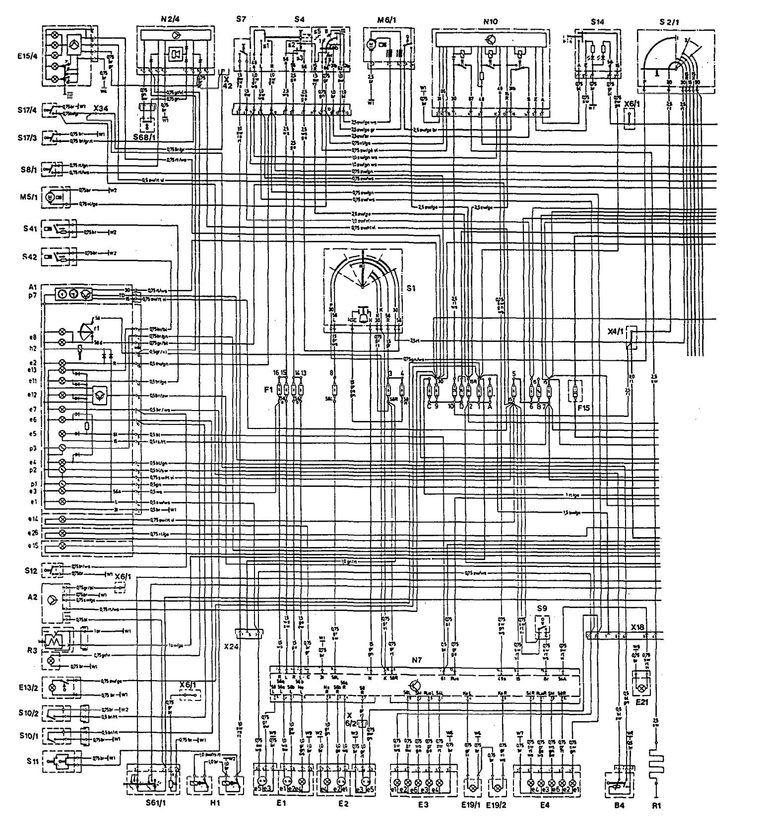Wiring Diagram Mercedes Benz 300e Schematics Diagrams E320 Radio 1992 1993 Auto Parts