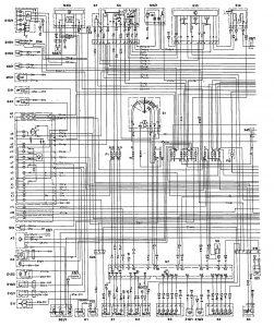 Mercedes-Benz 300E - wiring diagram - wiper/washer (part 1)