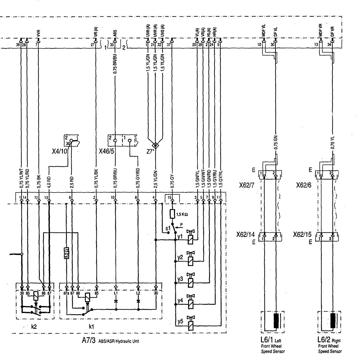 Mercedes Benz 400se 1992 Wiring Diagrams Abs Carknowledge Diagram 300se Part 3
