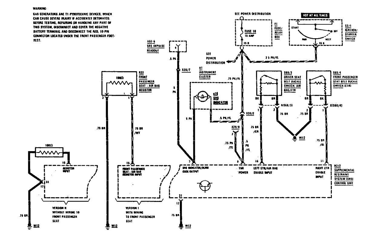 mercedes-benz 300se  1990  - wiring diagrams