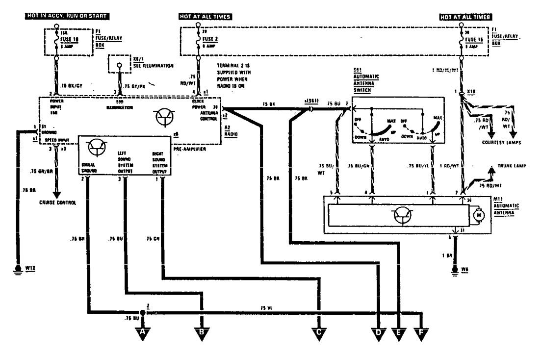 mercedes-benz 300se  1990  - wiring diagrams