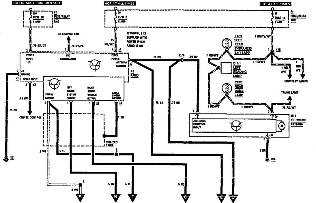 mercedes-benz 560sec  1991  - wiring diagrams