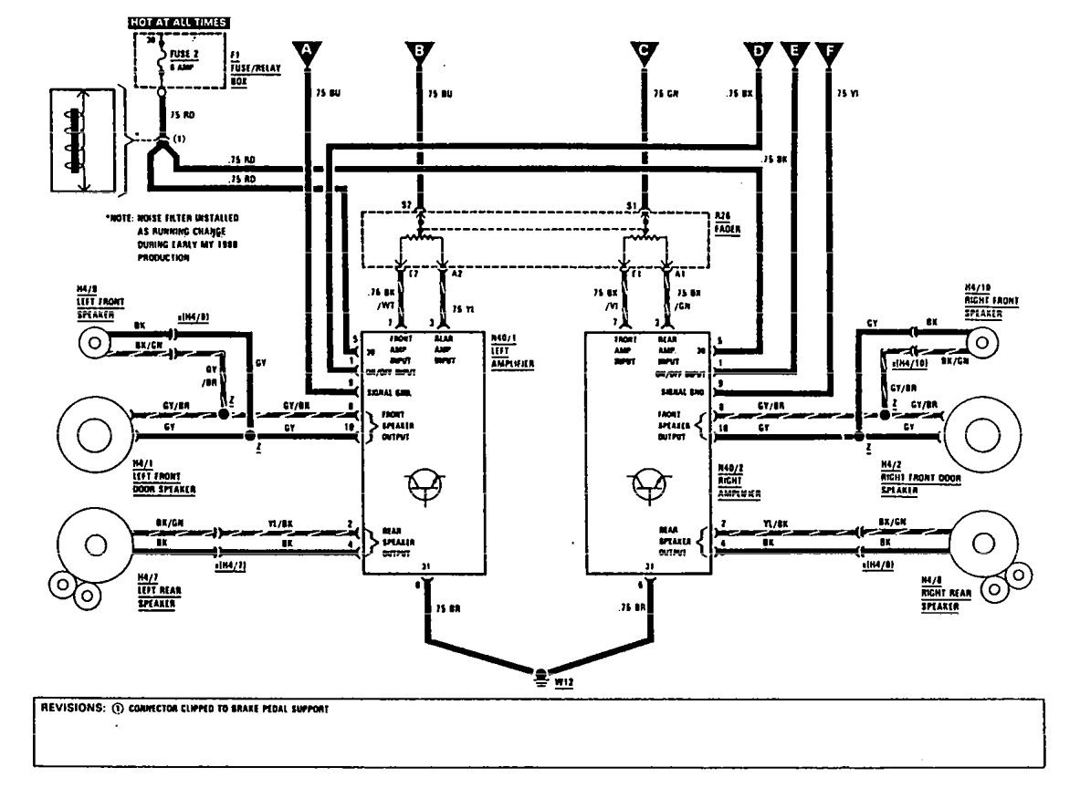 Mercedes Benz Audio Wiring Diagram Electrical Diagrams For 10 Schematic 300se 1990