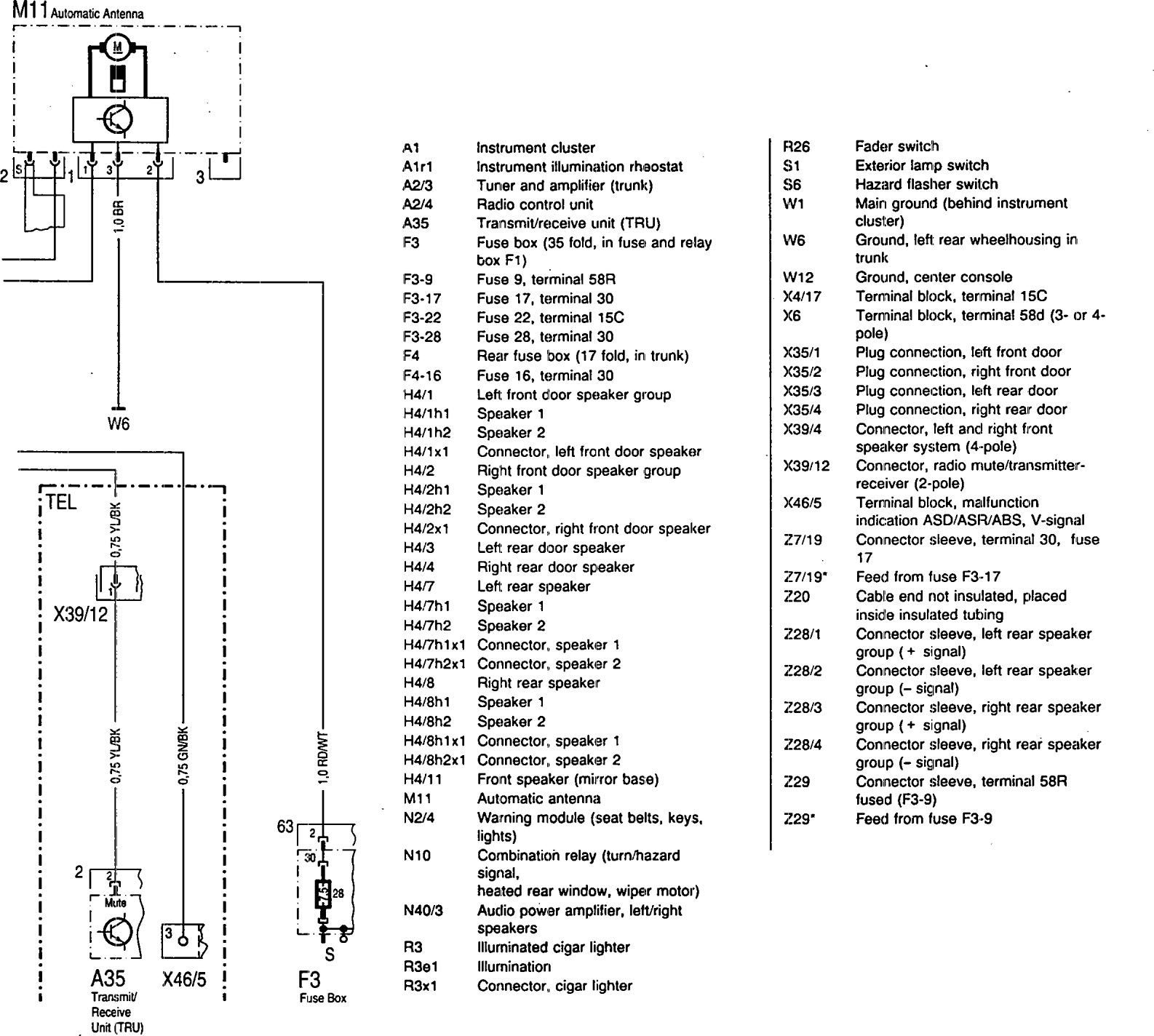 Wiring Diagram Mercedes Audio 20 : Mercedes benz se  wiring diagrams