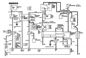 Mercedes-Benz 300SE - wiring diagram - brake controls (part 1)
