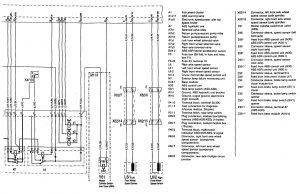 Mercedes-Benz 300SE - wiring diagram - brake controls (part 2)