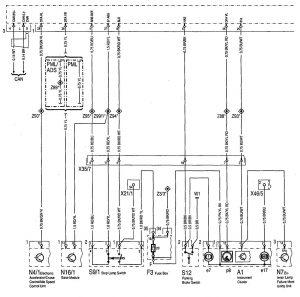Mercedes-Benz 300SE - wiring diagram - brake controls (part 1)