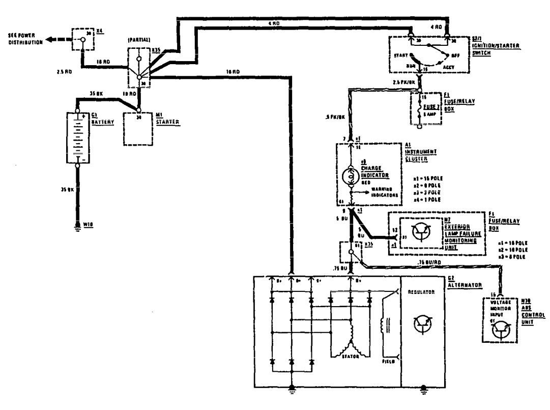 Mercedes Benz 420sel 1990 1991 Wiring Diagrams