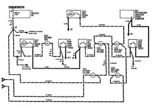 Mercedes-Benz 300SE - wiring diagram - courtesy lamps (part 2)