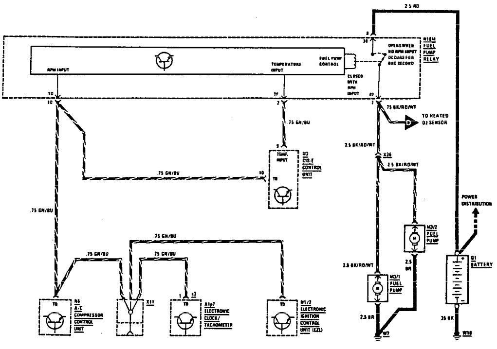 Mercedes-Benz 560SEC (1990) - wiring diagrams - diagnostic socket ...