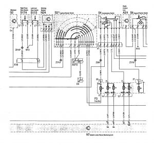 mercedes-benz 400se (1992 – 1993) – wiring diagrams – exterior lighting