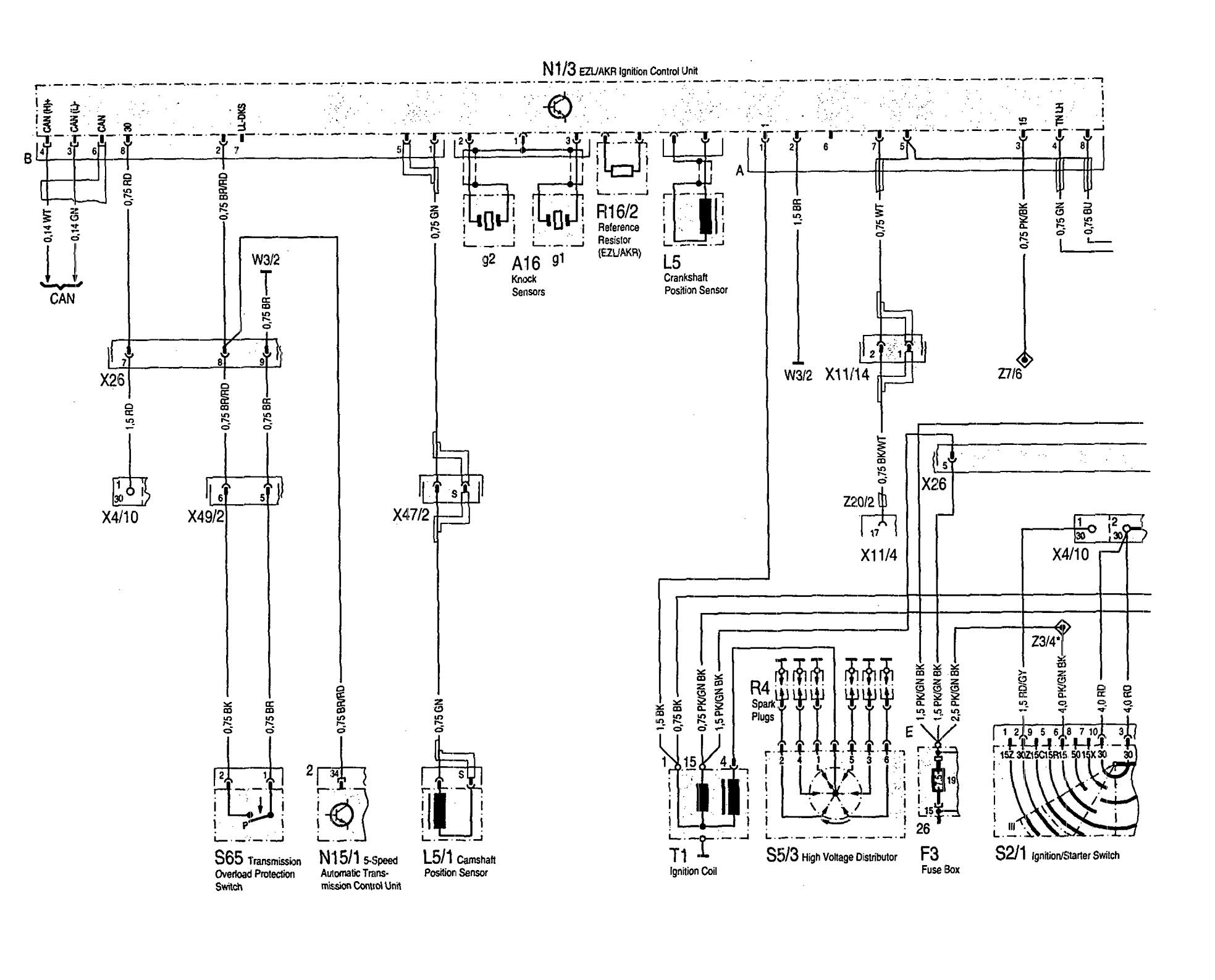 mercedes-benz 300se  1992 - 1993  - wiring diagrams