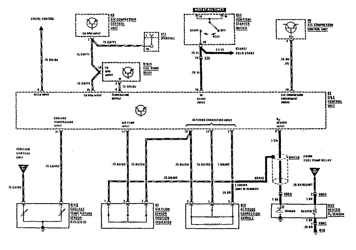 mercedes-benz 560sec  1990  - wiring diagrams
