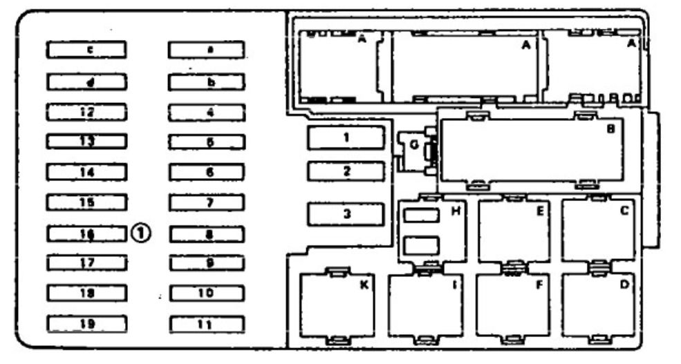 Mercedes-benz 300se  1990 - 1991  - Wiring Diagrams - Fuse Box Diagram