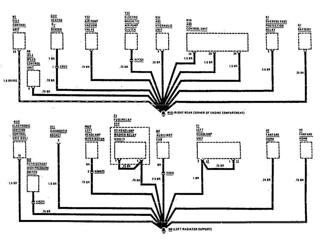 Mercedes Benz 420sel 1990 Wiring Diagrams Ground Distribution Hyundai Sonata Diagram 300se Part 6
