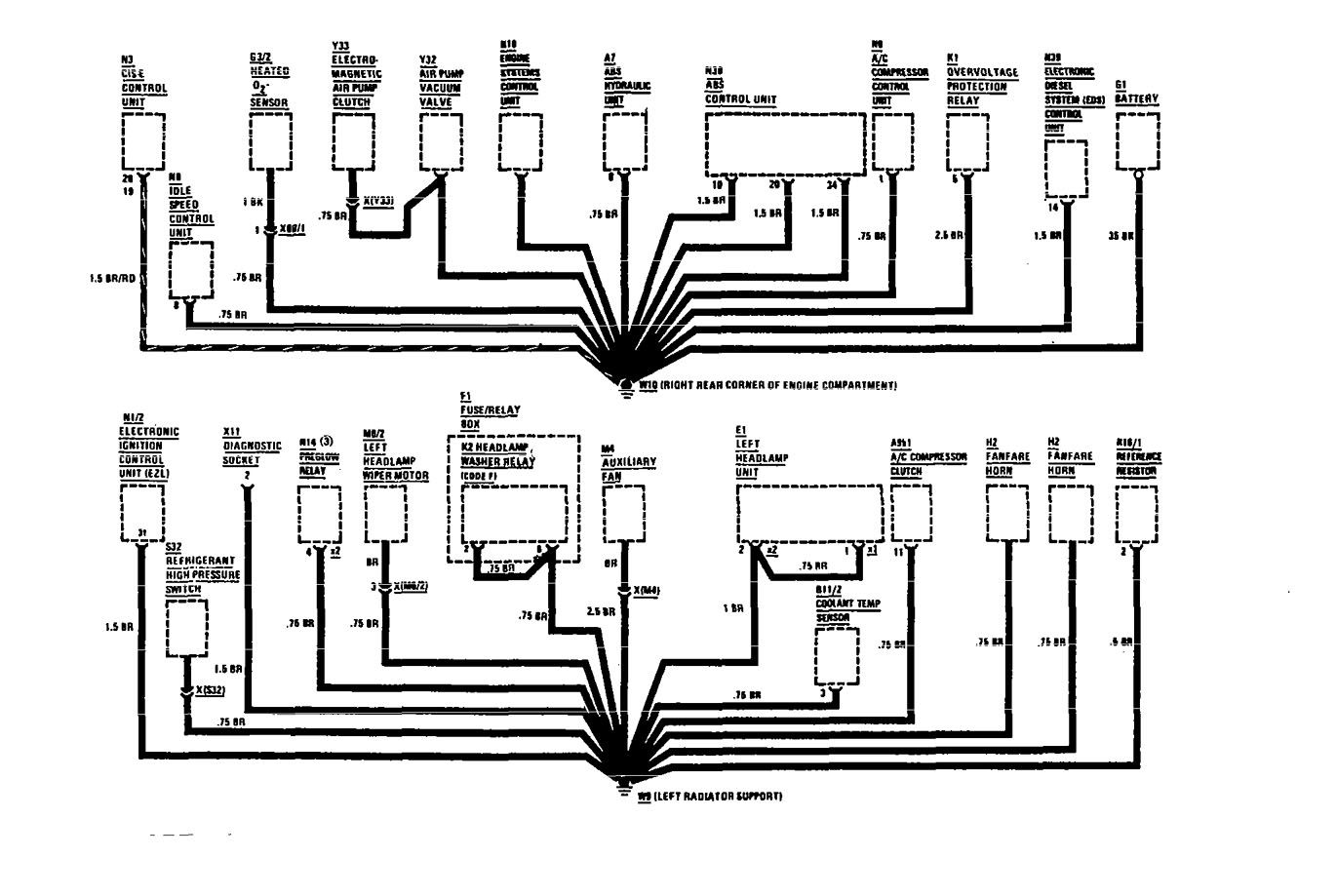 mercedes-benz 560sel  1991  - wiring diagrams