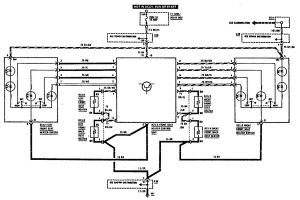 Mercedes-Benz 300SE - wiring diagram - heated seats