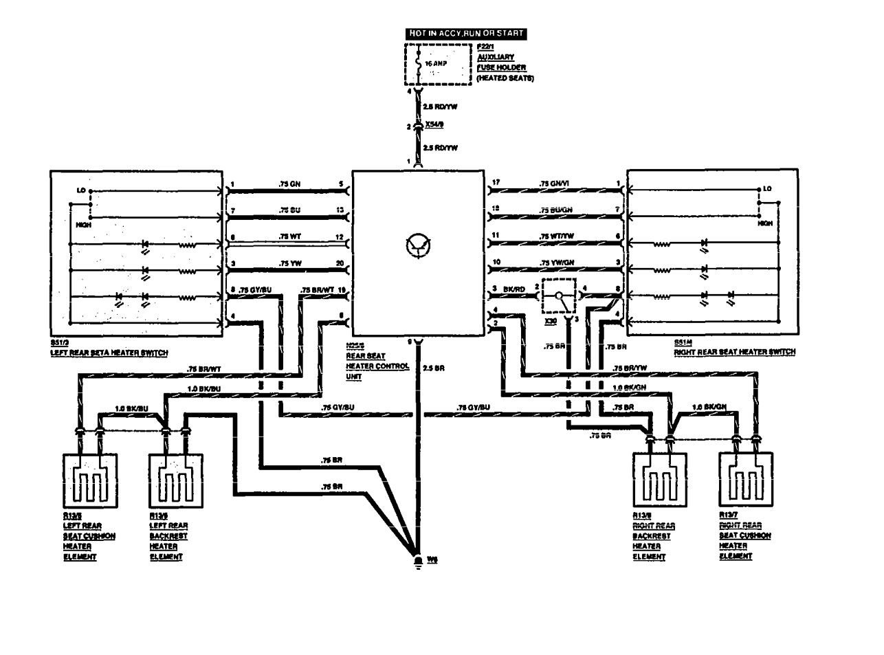 Mercedes Benz Seat Wiring Diagrams 1991 Fuse Diagram 560sel Heated Rear Entertainment Pre