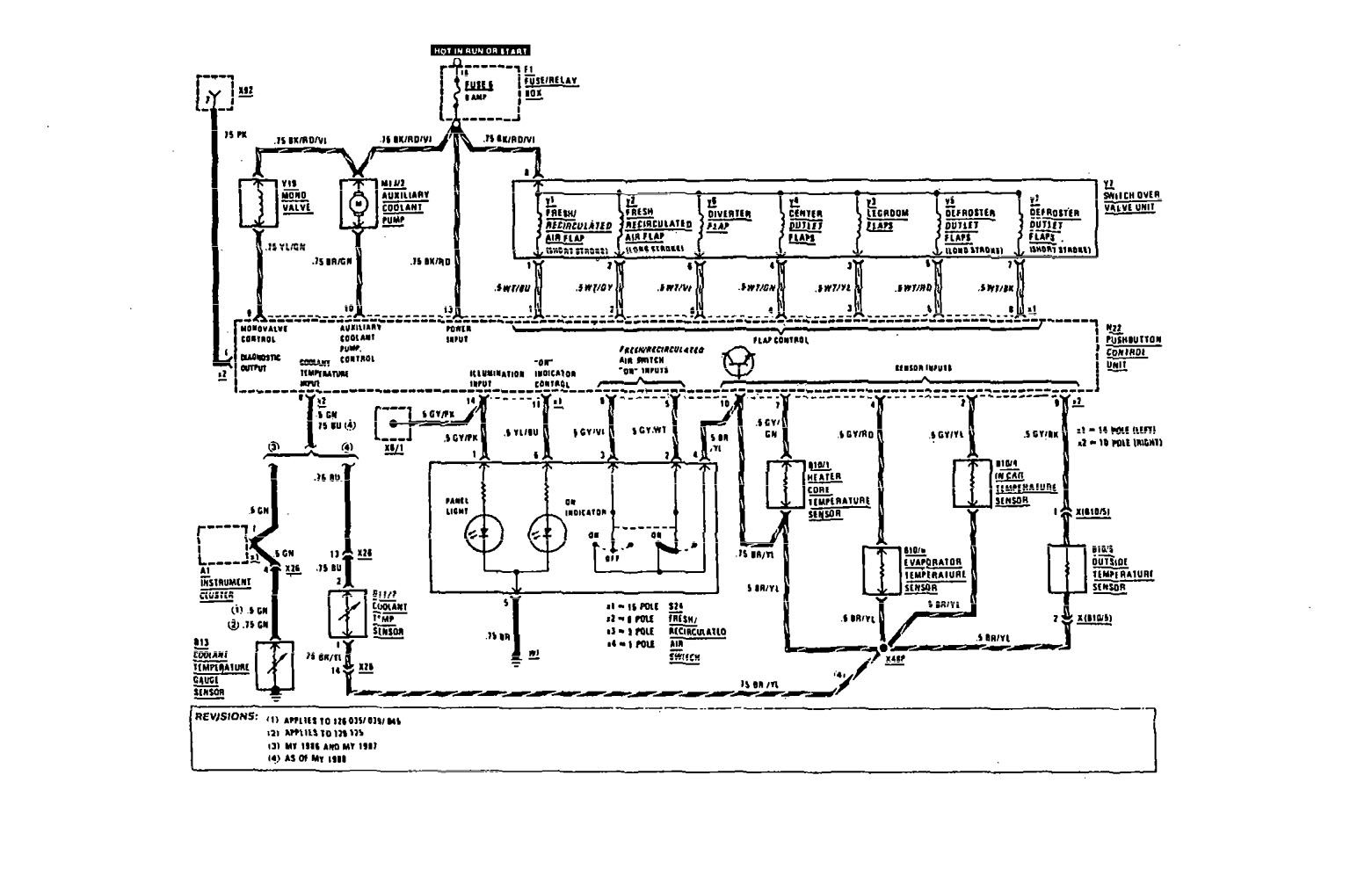 mercedes-benz 300sel  1991  - wiring diagram