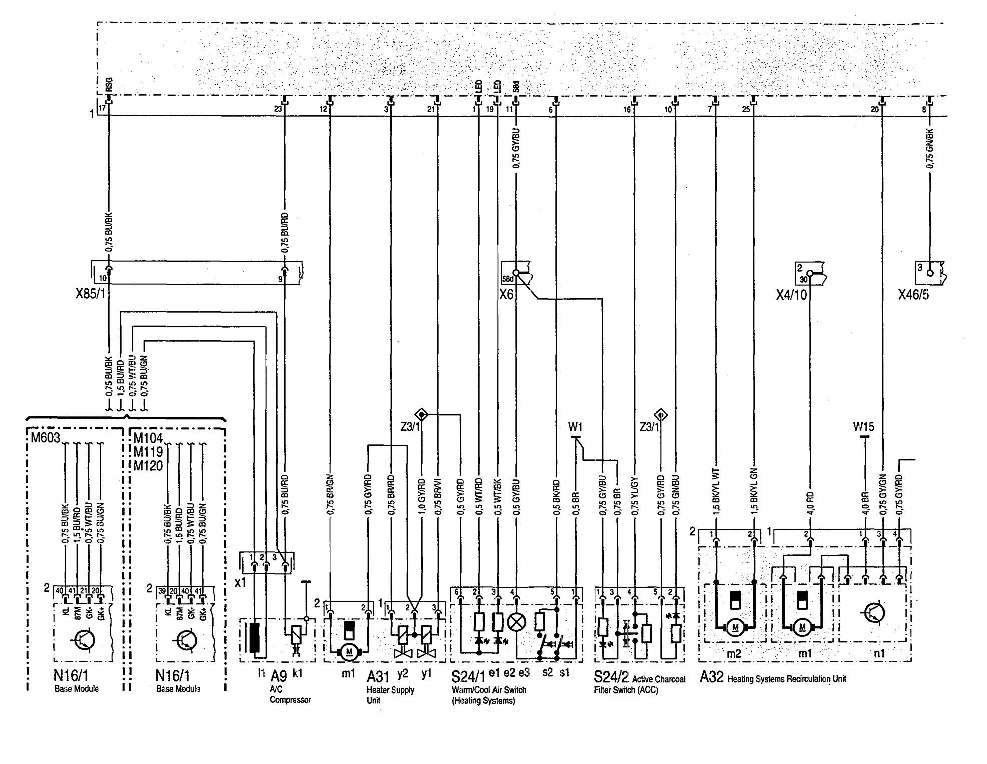 [DIAGRAM_1CA]  Mercedes-Benz 300SE (1992 - 1993) - wiring diagram - HVAC Controls -  Carknowledge.info   1992 Mercedes 300se Fuse Diagram      Carknowledge.info