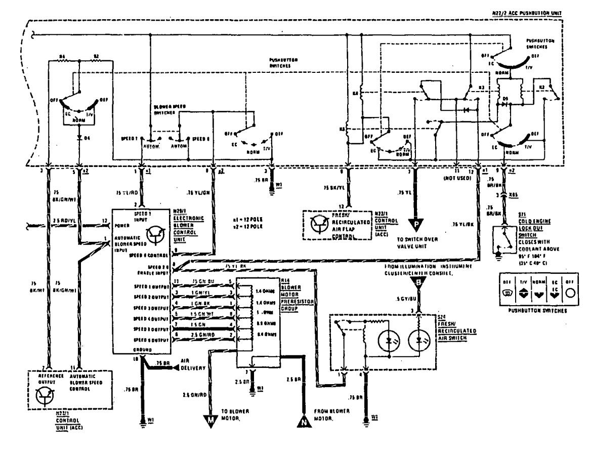 mercedes-benz 300se  1990  - wiring diagram