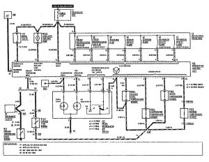 Mercedes-Benz 300SE - wiring diagram - HVAC Controls (part 3)