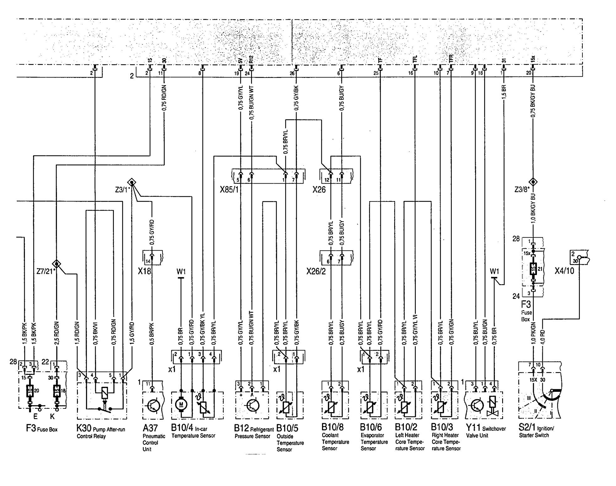 Mercedes Benz 300se 1992 1993 Wiring Diagram Hvac Controls Carknowledge