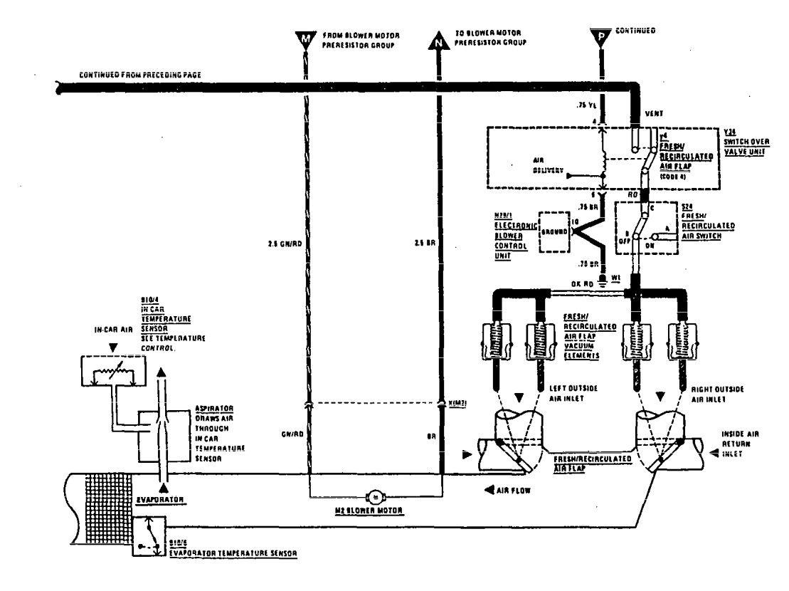 Mercedes Benz 300sel 1990 Wiring Diagram Hvac Controls Sensor 300se Part 2