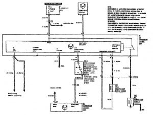 Mercedes-Benz 300SE - wiring diagram - HVAC Controls