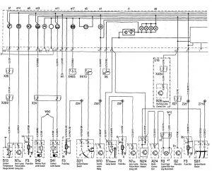 Mercedes-Benz 300SE - wiring diagram - instrumentation (part 1)