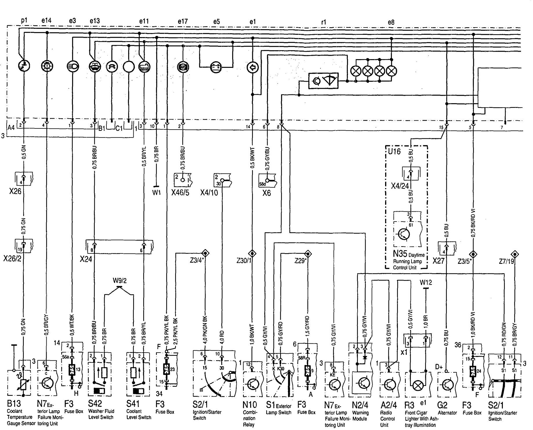 Mercedes-Benz 500SEL (1992 - 1993) - wiring diagrams ...