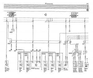 Mercedes-Benz 300SE - wiring diagram - instrumentation (part 2)